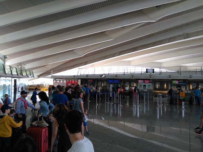 Airport queue